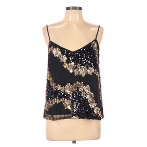 Lucy & Co Sleeveless Sequin Tank Top L